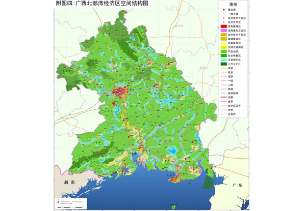 广西北部湾经济区空间结构图